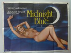 MIDNIGHT BLUE (1981) - British UK Quad - TOM CHANTRELL artwork of Georgina Spelvin America's No. 1