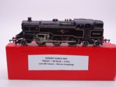 OO GAUGE - A Hornby Dublo 2 rail 4MT tank engine 80033 in late BR black livery. F-G in collector's