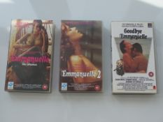 EMMANUELLE VIDEO LOT (3 in Lot) (1970's / 80's) to include VHS tapes for EMMANUELLE - EMMANUELLE 2 &