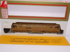 OO GAUGE - A Lima Class 47 diesel locomotive, 47910 Howes of Oxford, resprayed in gold livery,