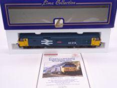 OO GAUGE - A Lima Class 50 diesel locomotive, 50010 Monarch, in Large Logo Blue, #205 of 550 (
