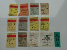TICKETS - A selection of tickets for concerts dati