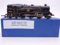OO GAUGE - A Hornby Dublo 2 rail 4MT tank engine 80051 in early BR black livery. F-G in collector'