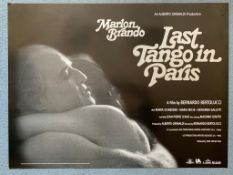 LAST TANGO IN PARIS (2007 Release) - MARLON BRANDO - British UK Quad film poster - Park Circus