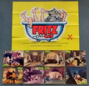FRITZ THE CAT (1972) LOT - (9 in Lot) - To include British UK Quad film poster - RALPH BAKSHI &