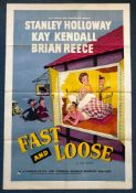 FAST AND LOOSE (1954) - British One Sheet Movie Poster - Gordon Parry comedy - ERIC PULFORD