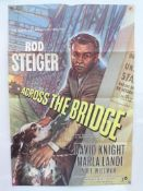 "ACROSS THE BRIDGE (1957) - UK One Sheet Film Poster (27"" x 40"" – 68.5 x 101.5 cm) - Very Fine plus -"