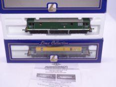 OO GAUGE - A Lima Class 73 electro-diesel locomotive pair, E6003 Sir Herbert Walker, in BR green