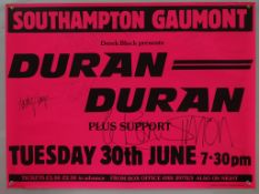 DURAN DURAN - UK Quad music poster - In dayglo pin
