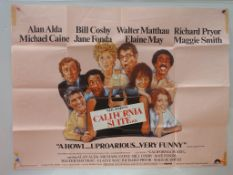 "CALIFORNIA SUITE (1978) - UK Quad Film Poster - 30"" x 40"" (76 x 101.5 cm) - Folded (as issued) +"