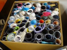 A large removals box full of rolled mostly UK QUAD posters - mostly 1990s but some 1980s examples