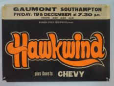 HAWKWIND - Lot of 2 - UK Quad Music poster & tour