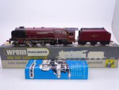OO GAUGE - A Wrenn W2264 Duchess class steam locomotive Duchess of Hamilton in BR maroon livery.