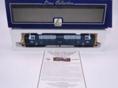 "OO GAUGE - A Lima Class 55 Deltic diesel locomotive, 55015 Tulyar, in BR ""York Railtour"" livery, #"