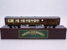 OO GAUGE - A Golden Age Models handbuilt brass Pullman car, Car No 77. E in VG box