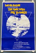 THE MAN WHO FELL TO EARTH (1970's) - DAVID BOWIE - British One Sheet film poster - Silk screen