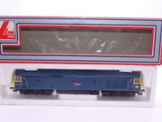 OO GAUGE - A Lima Class 50 diesel locomotive, 50020 Revenge, in BR blue livery. VG in G box