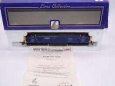 OO GAUGE - A Lima Class 37 diesel locomotive, 37607, in DRS blue livery, #110 of 750 (Riko) E in