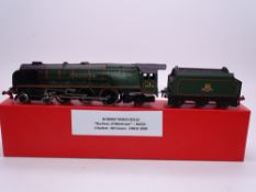 OO GAUGE - A Hornby Dublo EDL12 2 rail Duchess of Montrose steam loco in matt green. G in