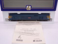 OO GAUGE - A Lima Class 50 diesel locomotive, 50001 Dreadnought, in BR Blue livery, #348 of 800 (