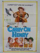 "CARRY ON HENRY (1971) - UK/International One Sheet Movie Poster - (27"" x 40"" - 68.5 x 101.5 cm) -"