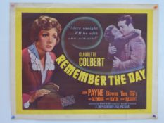 """REMEMBER THE DAY (1941) - US Half Sheet - 22"""" x 28"""