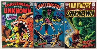 CHALLENGERS OF THE UNKNOWN LOT #59, 62, 66 (3 in L