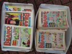 BRITISH COMICS - A large selection of Beano comics