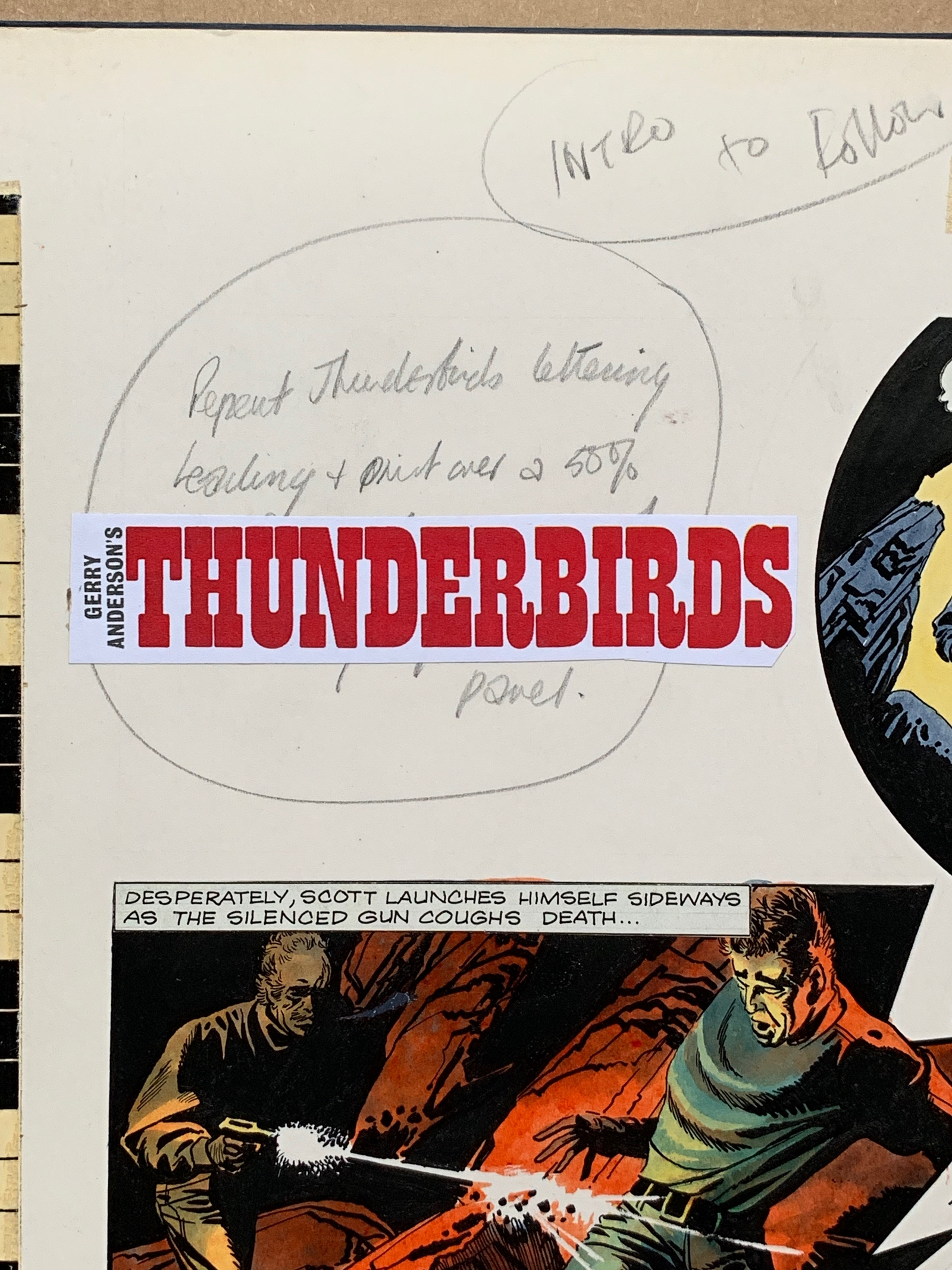 Lot 1192 - THUNDERBIRDS (1969) - ORIGINAL ARTWORK from TV21 C