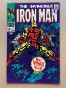 IRON MAN #1 (1968 - MARVEL) VG/FN (Cents Copy / Pence Stamp) - The origin of Iron Man retold in a