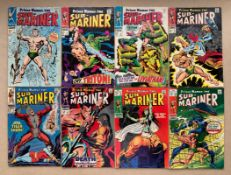 SUB-MARINER #1, 2, 3, 4, 5, 6, 9, 10 (8 in Lot) - (1968 - MARVEL) - VG/FN (Cents Copy/Pence Copy/