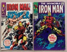 IRON MAN #1 & IRON MAN and SUB-MARINER #1 (2 in Lot) - (1968 - MARVEL) - VG (Cents Copy/Pence Stamp)