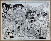 SACHS & VIOLENS #4 (1994) - ORIGINAL ARTWORK - GEORGE PEREZ (Artist) & ARNE STARR (Inker) - Pages 18