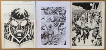 WORLD WIDE WARRIORS (2018) LOT - (5 in Lot) - ORIGINAL ART - ALLAN GOLDMAN - (Artist) 5 x pages from
