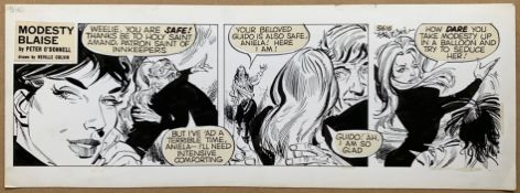 MODESTY BLAISE (1982) - ORIGINAL ARTWORK by NEVILLE COLVIN - This is the original art used for an