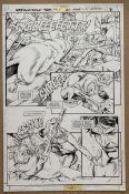 SUPERMAN: DISTANT FIRES (1998) - ORIGINAL ARTWORK - GIL KANE (Artist) & KEVIN NOWLAN (Inker) -