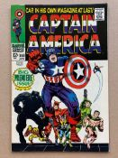 CAPTAIN AMERICA #100 (1968 - MARVEL) VG/FN (Cents Copy) - Captain America gets his own title for the