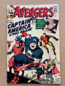 AVENGERS #4 (1964 - MARVEL) VG/FN (Pence Copy) - Captain America joins the Avengers in this issue,