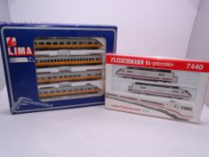 N Gauge - A pair of German Outline multiple units by Lima and Fleischmann - G-VG in G boxes (2).