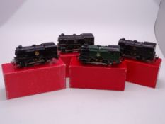 OO Gauge - A group of playworn Trix Twin 0-4-0 steam tank locomotives in various liveries supplied