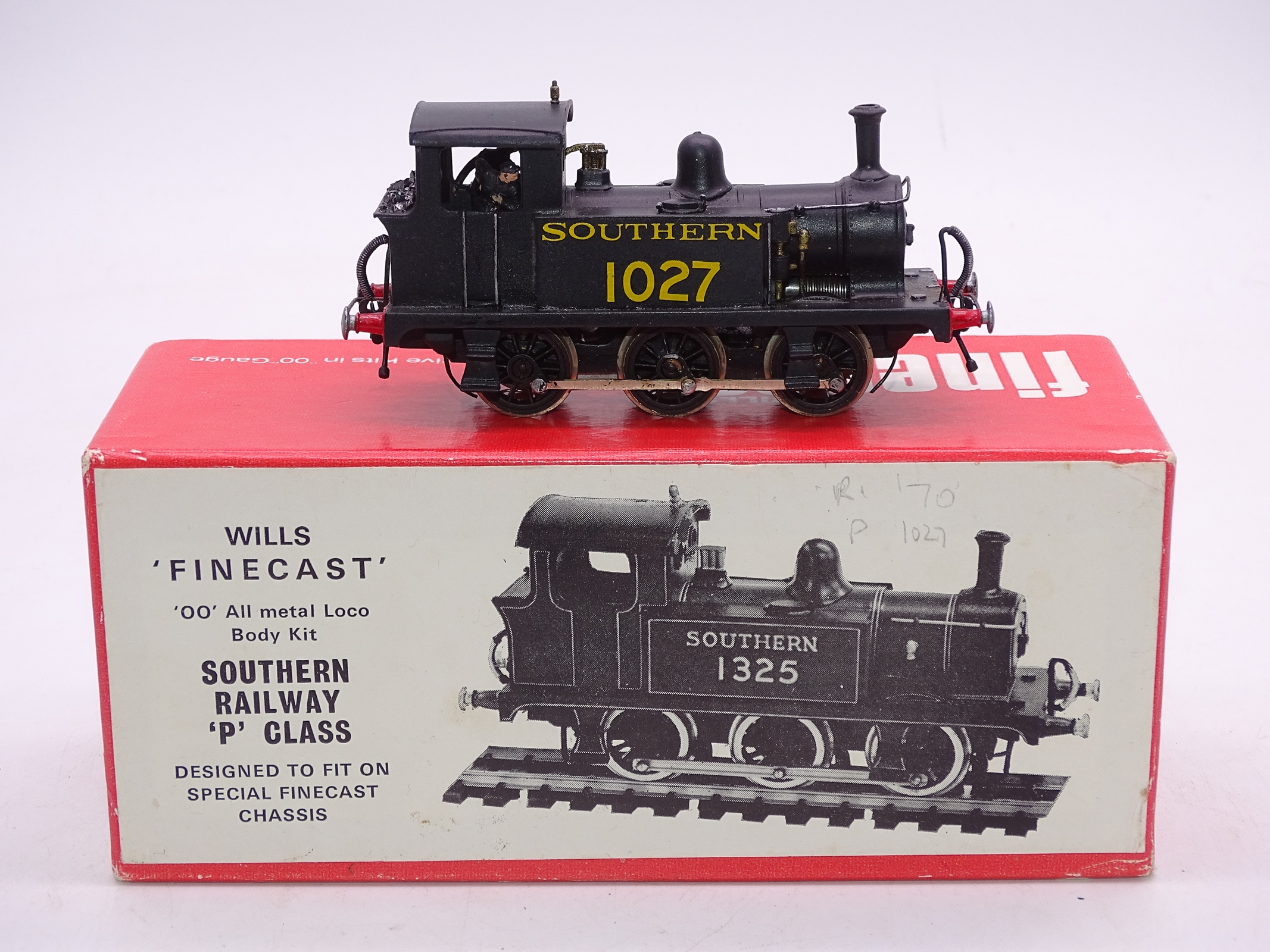 Lot 52 - OO Gauge -A Wills Finecast kit built P Class steam tank loco in Southern Railway livery - numbered