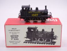 OO Gauge -A Wills Finecast kit built P Class steam tank loco in Southern Railway livery - numbered