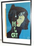 """CATWOMAN """"EYE OF THE CAT"""" PRINT (2013) - SIGNED BY DES TAYLOR - Offered framed & glazed with print"""