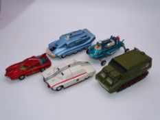 "A group of unboxed ""Gerry Anderson"" related Dinky vehicles to include ""Captain Scarlet"", ""Joe 90"","