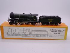 OO Gauge -A Nu Cast kit built Class T14 'Paddlebox' steam loco with tender in Southern Railway