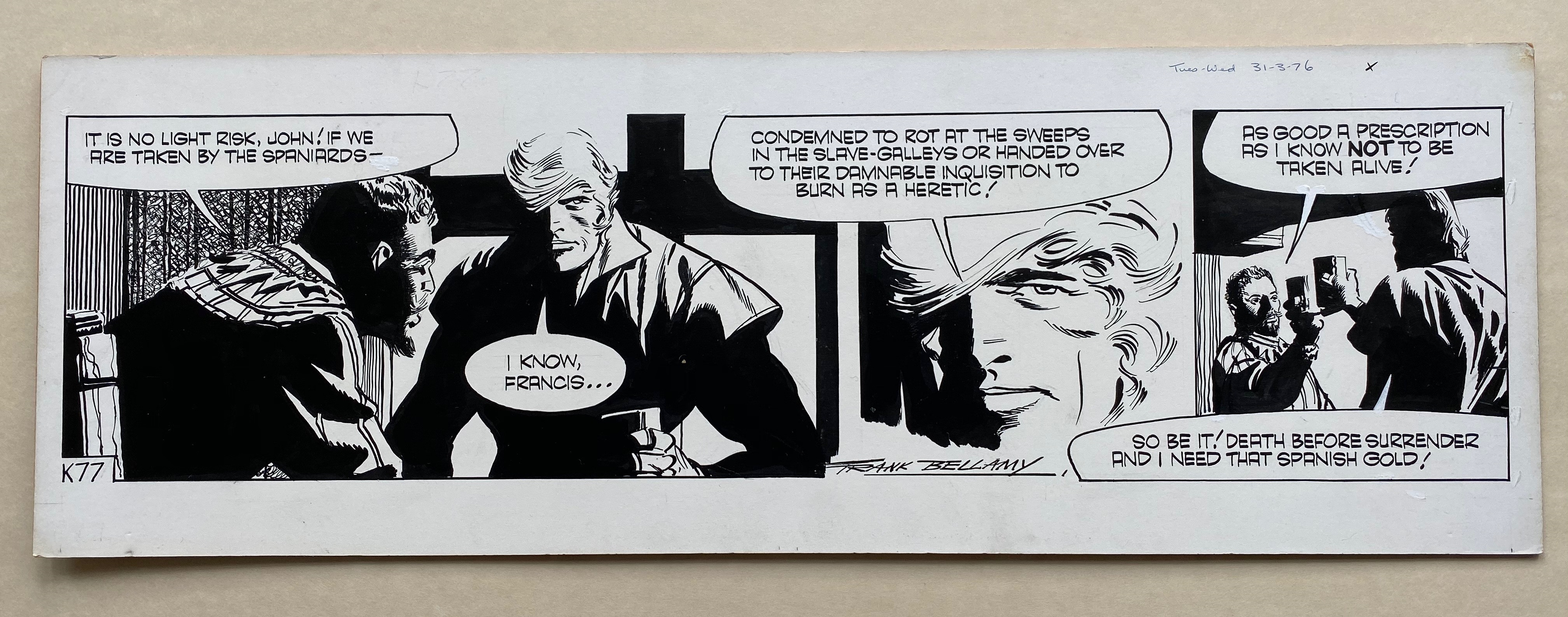 Lot 2143 - GARTH (1976) - ORIGINAL SIGNED FRANK BELLAMY ARTWORK from Daily Mirror - FRANK BELLAMY (Artist) -