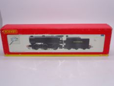 OO Gauge -A Hornby R2343A Class Q1 steam locomotive in Southern Railway livery - numbered C21 - VG
