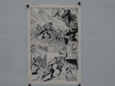 2000 AD / ROGUE TROOPER #1310 (2002) - ORIGINAL ARTWORK - SIGNED BY DAVID ROACH (Inker) - Mike