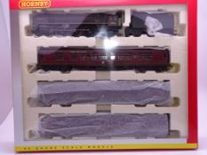 OO Gauge -A Hornby R2329M 'Thames-Clyde Express' train pack including steam loco and 3 coaches -