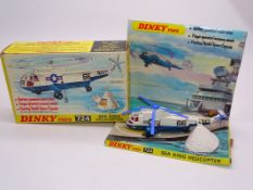 A Dinky Toys 724 Sea King Helicopter in original picture box with inner stand, complete with